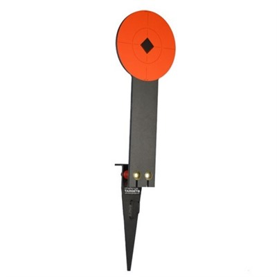 Stake-N-Shoot Steel Rifle Target with Ar500 Popper Plate by Challenge Targets