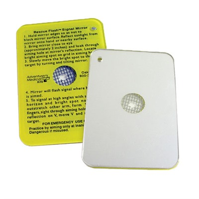 First Aid Emergency: Flash Mirror Adventure Medical Kits.
