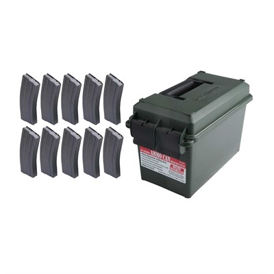 Ar-15 30rd X10 Tactical Magazines + Ammo Can 223/5.56 Brownells.