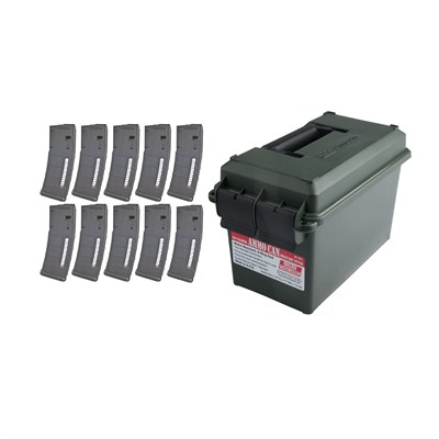 Ar-15 30rd X10 Pmag Gen M2 Moe Window + Ammo Can 223/5.56 Brownells.