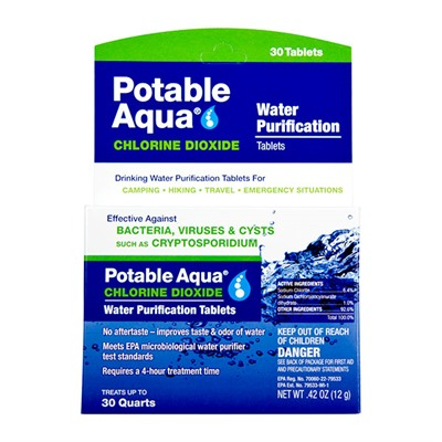 Tablets Potable Aqua.