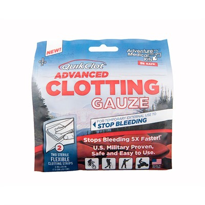 Quikclot Gauze Adventure Medical Kits.