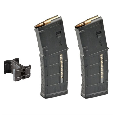 Durable Magpul PMAGs with Mag Link coupler kits allow for fast reloads and always ready ammunition. Available PMAGs include MOE, M3, ...