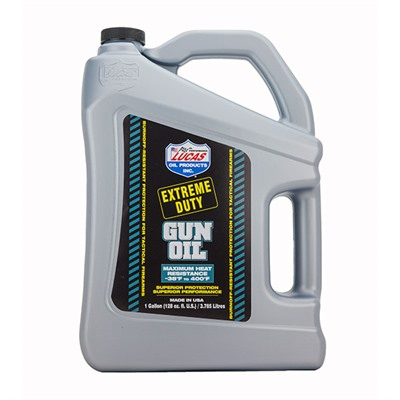 Click here to buy Extreme Duty Gun Oil-Gallon by Lucas Oil Products.