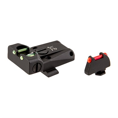 Glock Fiber Optic Adjustable Sight Set L.p.a. Sights.