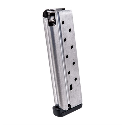 The innovative and unique integral feed ramp design means 9mm-1911 shooters can now have a full ten round capacity with remarkable feeding ...