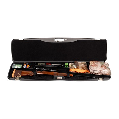 Deluxe Scoped Rifle Case With Gear Compartment Negrini Cases.