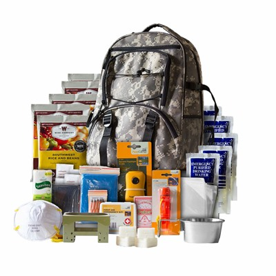 Five Day Emergency Survival Kit W/food & Water For 1-Person,camo Wise Foods.