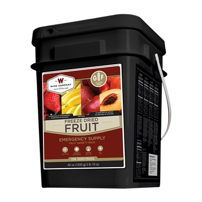 156 Serving Emergency Survival Freeze Dried Fruit-Gluten Free Wise Foods.