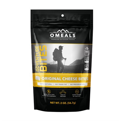 Cheese Bites Omeals Premium Outdoor Foods.