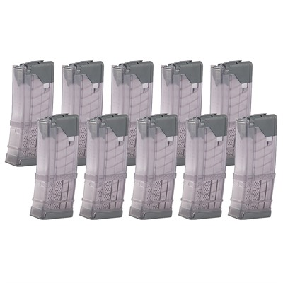 Ar-15 L5awm Translucent Smoke Magazine 20-Rd Lancer Systems.