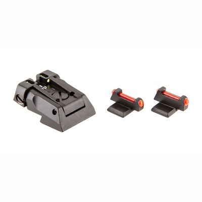 1911 Fusion Fiber Optic Adjustable Dovetail Sight Set Fusion Firearms.