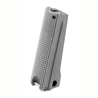 Fusion Pro-Series, Stainless steel Mainspring Housing, for Full Size Government size 1911 frames. CNC Machined from Steel Bar-Stock, With Checkered back. Matte ...
