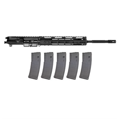 """This Brownells' exclusive Complete AR Upper Receiver is Made in the USA. Chambered in 5.56x45mm NATO and featuring a 16"""" barrel ..."""