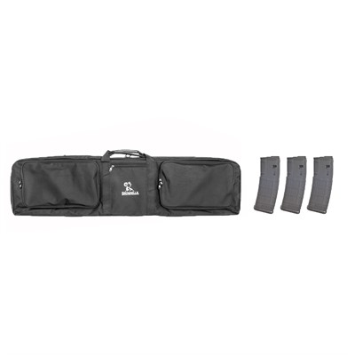 3 Gun Case W/ 3-Pk 30-Rd Pmags Brownells.