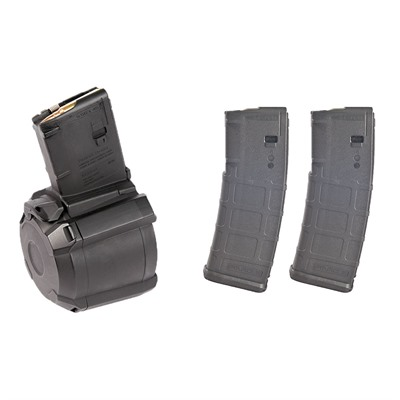 Ar-15 D60 60-Rd Drum W/ 2 30-Rd Pmags Magpul.