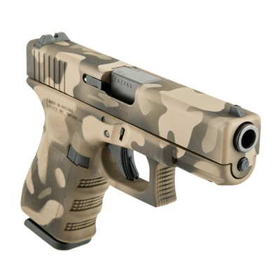 Camoflage Glock 19 Handgun 9mm 15+1 by Glock