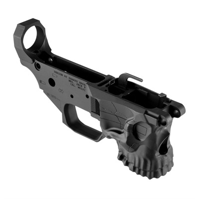 The Angstadt Arms Jack 9 stripped AR-15 lower receiver for Glock 9mm features an iconic skull design. The receiver features an integrated, ...