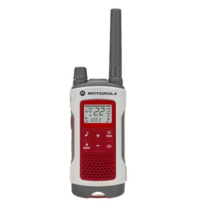 Talkabout T480 Red & White E-Alert 35 Mile Two-Way Radio Motorola.