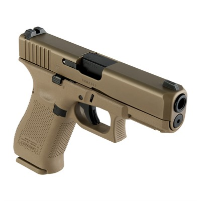 "G19x G5 9mm 4"" Coyote 17+1 Night Sight Glock."