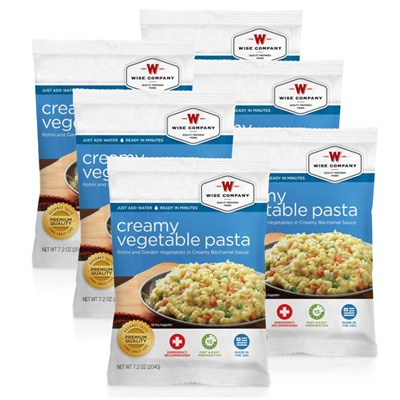 4 Serving Pasta & Vegetable Rotini Wise Foods.