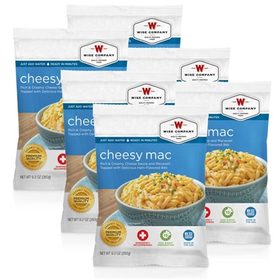 4 Serving Cheesy Macaroni Wise Foods.