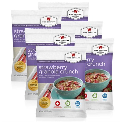 4 Serving Strawberry Granola Crunch Wise Foods.
