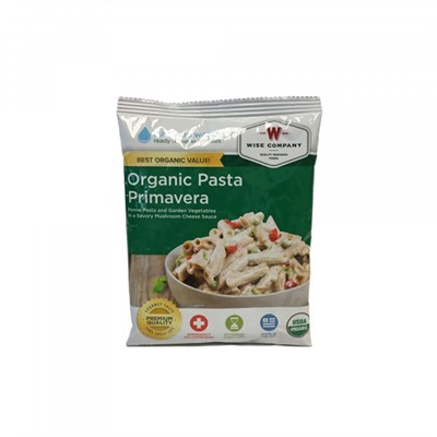4 Serving Organic Pasta Primavera Wise Foods.
