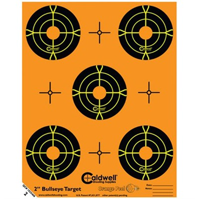 Orange Peel Bullseye Targets Caldwell Shooting Supplies.