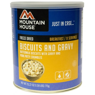 Biscuits & Gravy 10 Can Mountain House.