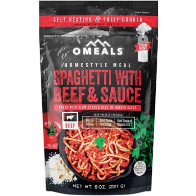 Spaghetti With Beef And Sauce Homestyle Meal Omeals Premium Outdoor Foods.