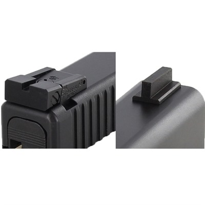 Glock® Black Front/rear Sight Set Adjustable Dawson Precision.