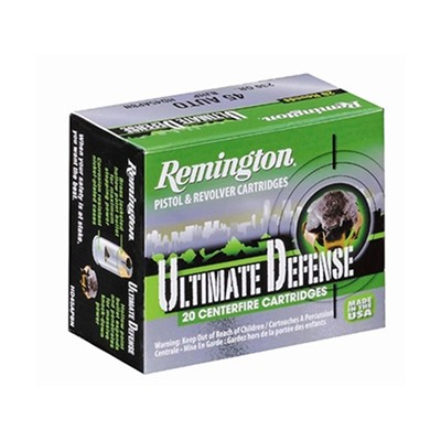 Hd Ultimate Defense Ammo 380 Auto 102gr Bjhp Remington.