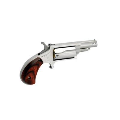 Mini-Revolver Convertible Prtd 1.625in 22 Lr 22 Wmr Ss Wood 5rd by North American Arms