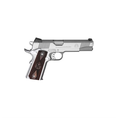 Loaded Stainless Steel 5in 45 Acp Stainless Wood Fixed 7+1rd Springfield Armory.