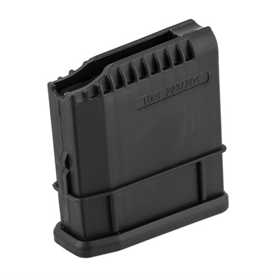 Polymer magazines compatible with Howa 1500, Weatherby Vanguard, Mossberg 1500 & Interarms 1500 when used in conjunction with Howa Detachable Magazine Floorplates. ...