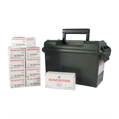 Usa White Box Ammo 38 Special 130gr Fmj Ammo Can Winchester.