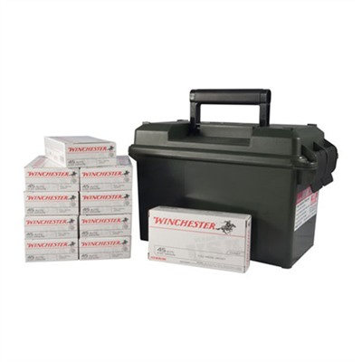 Usa White Box Ammo 9mm Luger 115gr FMJ Ammo Can by Winchester