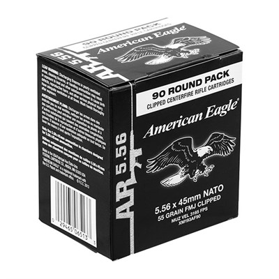 American Eagle Tactical Ammo 5.56x45mm Nato 55gr Xm193 Clips American Eagle.