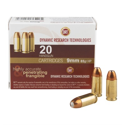 Drt Ammo 9mm Luger 85gr Jhp Dynamic Research Technologies.