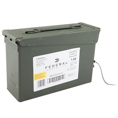 American Eagle Ammo 5.56x45mm Nato 55gr Xm193 Ammo Can Federal.
