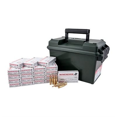 WINCHESTER - WHITE BOX FMJ RIFLE AMMO CANS