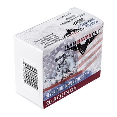 Frangible Hp Ammo 380 Auto 75gr Hp Team Never Quit.