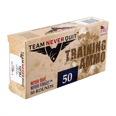Training Ammo 10mm Auto 180gr Fmj Team Never Quit.