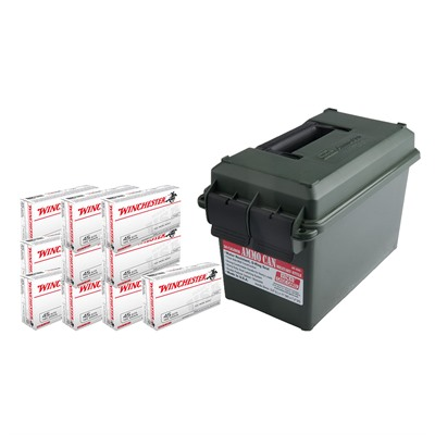 Usa White Box Ammo 45 Acp 185gr Fmj Ammo Can Winchester.