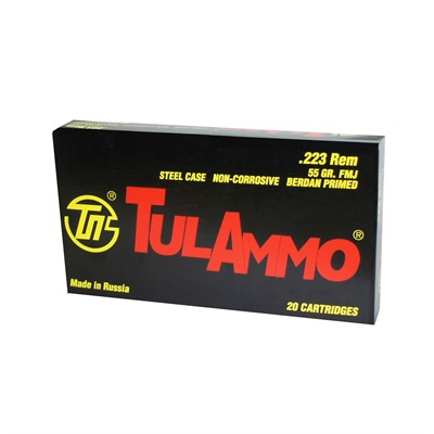 Steel Case Ammo 223 Remington 55gr Fmj Tulammo Usa.