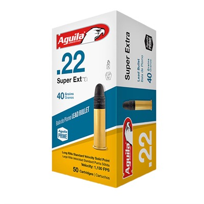 Superextra Standard Velocity Ammo 22 Long Rifle 40gr Lead Rn Aguila.