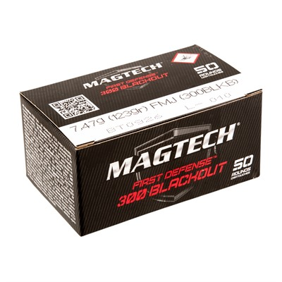 First Defense Ammo 300 Aac Blackout 123gr Fmj Magtech Ammunition.