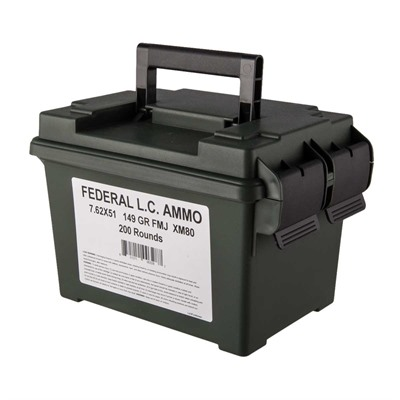Lake City 7.62x51mm Nato 149gr Xm80 Fmj Ammo Can Federal.