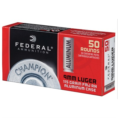 Champion Aluminum 9mm Luger 115gr Fmj Ammo Federal.